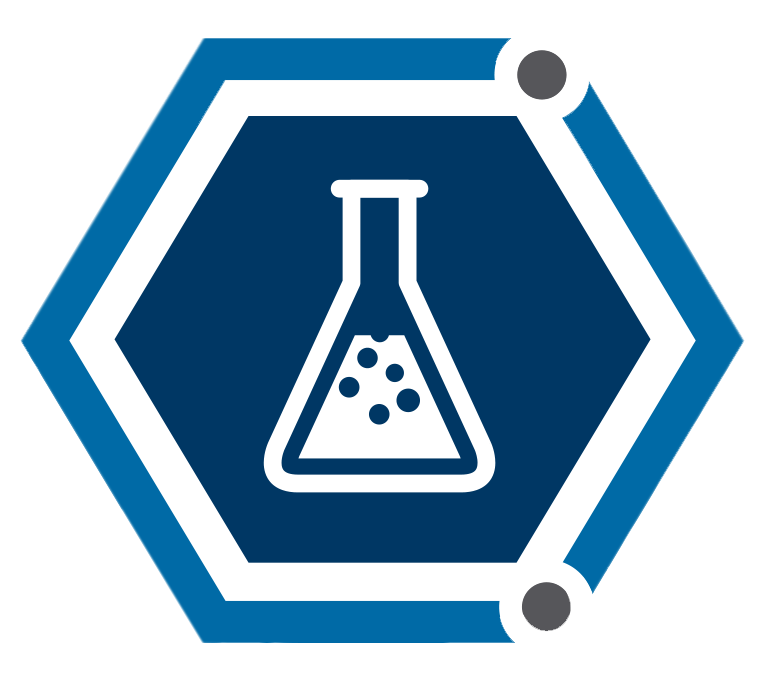 Chemical Sector Coordinating Council logo of chemical beaker in a blue hexagon