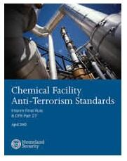 Chemical Facility Anti-Terrorism Standards Cover