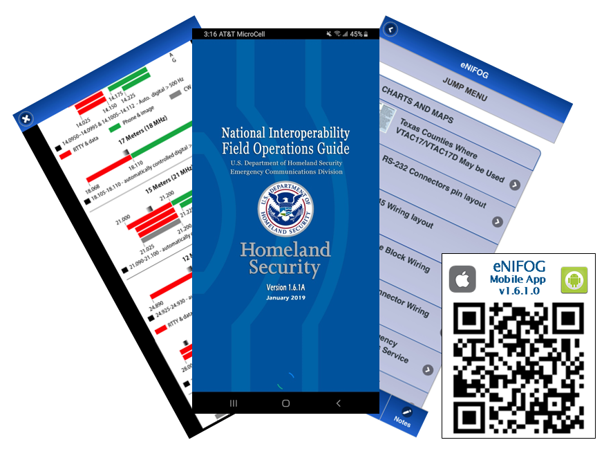 U.S. Department of Homeland Security National Interoperable Field Operations Guid and QR Code